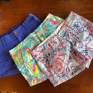 Three pairs Lily Pulitzer shorts